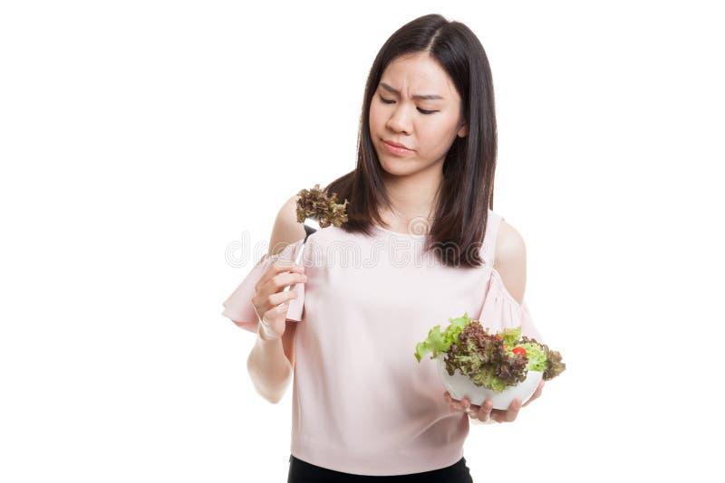 Salada asiática do ódio da mulher de negócio imagem de stock
