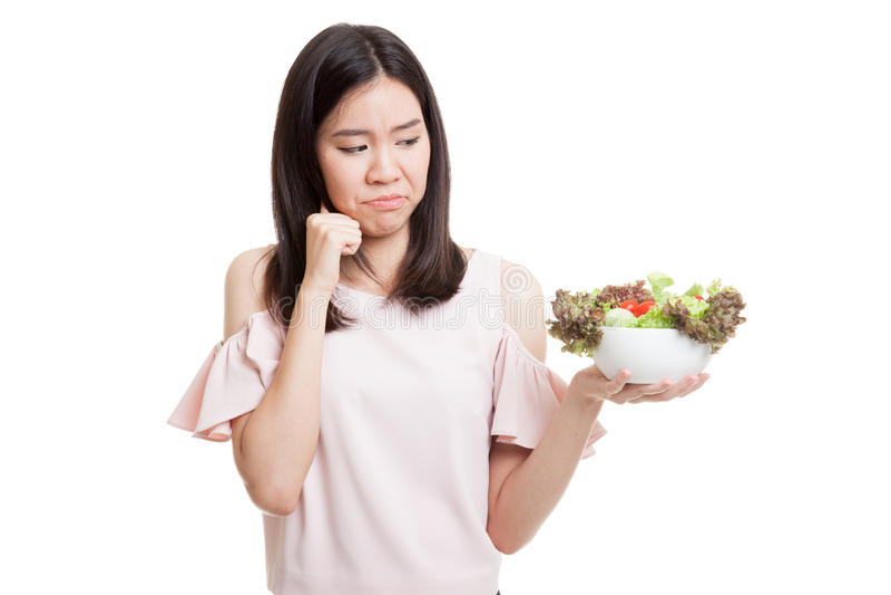 Salada asiática do ódio da mulher de negócio fotos de stock