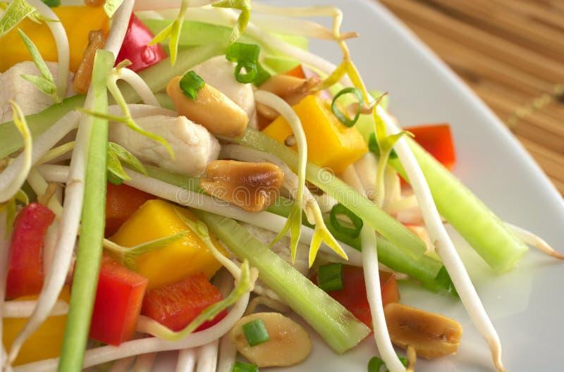 Salada asiática fresca com galinha fotos de stock