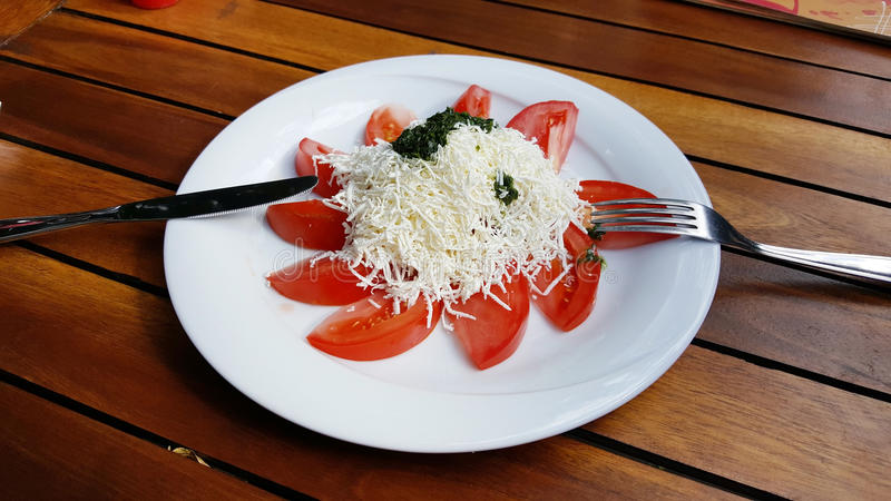 Salada búlgara tradicional do shopska foto de stock royalty free