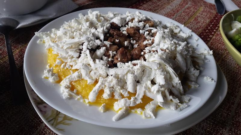 Salada bonita com ovos pequenos imagens de stock royalty free