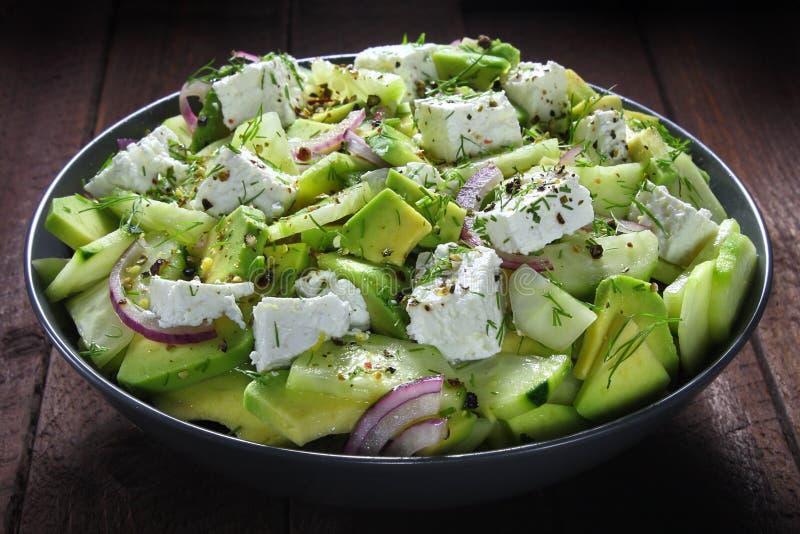 Salada com abacate fotos de stock royalty free