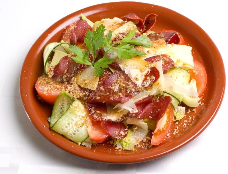 Salada com Basturma imagem de stock royalty free