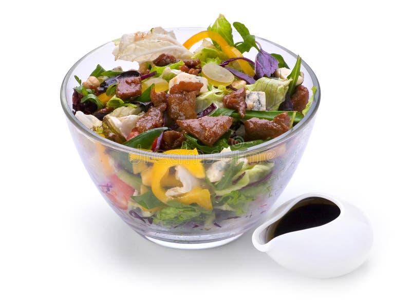 Salada com carne da vitela imagens de stock royalty free