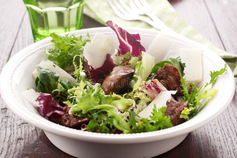 Salada com fígado fotos de stock royalty free