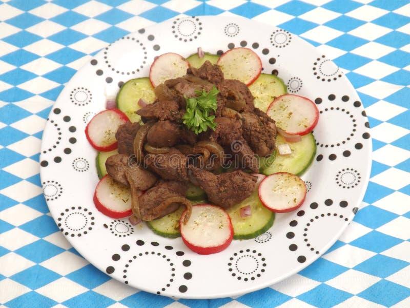 Salada com fígado foto de stock royalty free