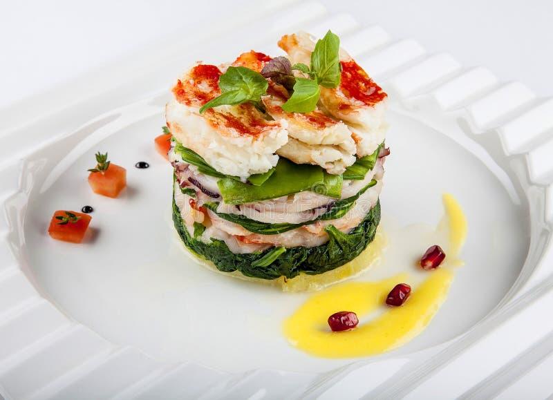 Salada com marisco. fotografia de stock royalty free