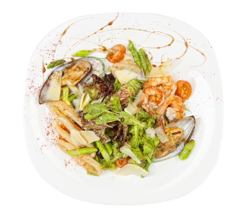 Salada com marisco fotografia de stock