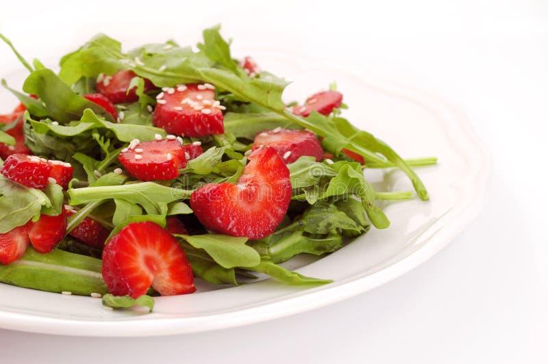 Salada com morango imagens de stock