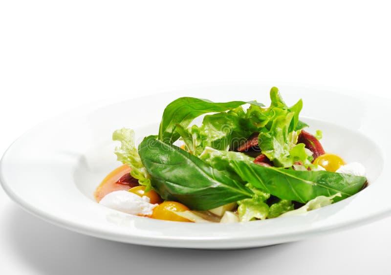 Salada com o peito de pato Smoke-cured imagem de stock