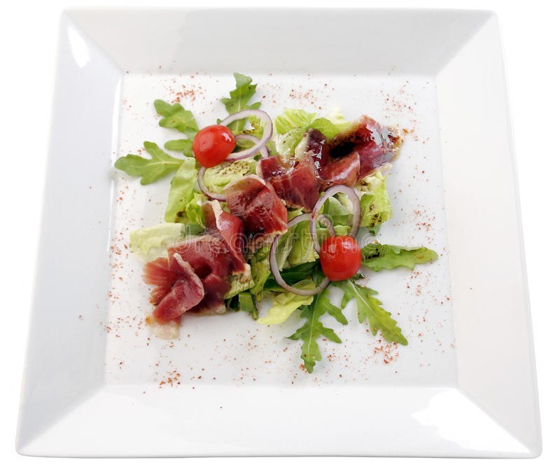 Salada com presunto foto de stock royalty free