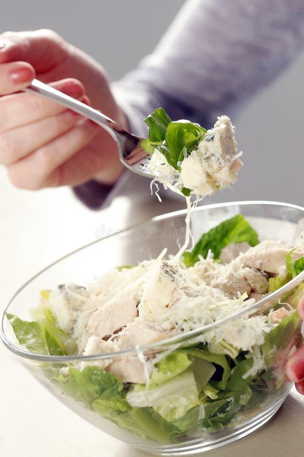 Salada com queijo imagens de stock royalty free