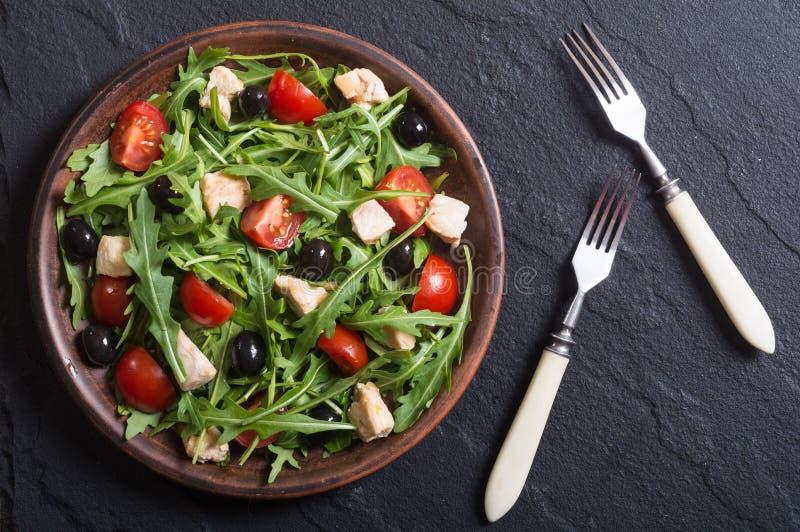 Salada com rúcula fotos de stock royalty free
