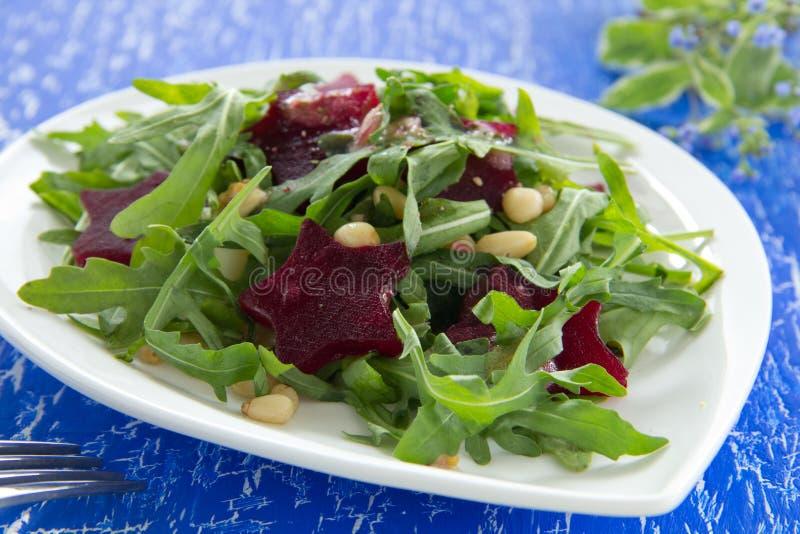 Salada com ruccola foto de stock