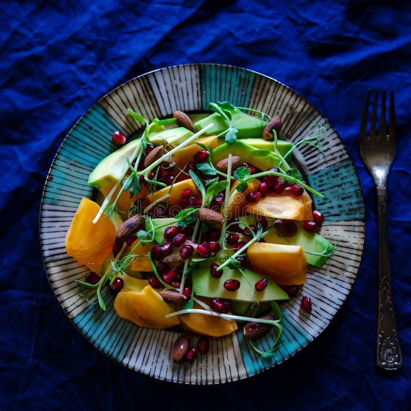 Salada crua do vegetariano foto de stock