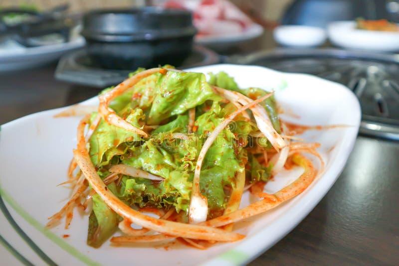Salada da alface ou salada coreana imagem de stock royalty free
