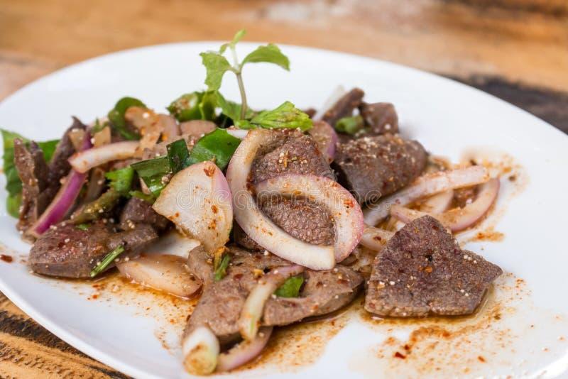 Salada da carne de porco do fígado imagens de stock royalty free