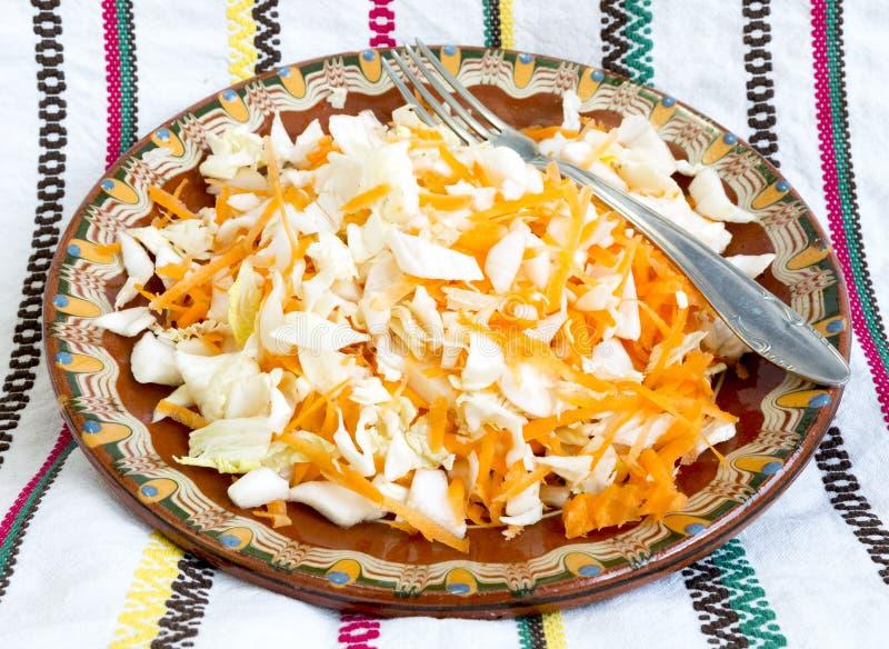 Salada da cenoura e de couve imagem de stock