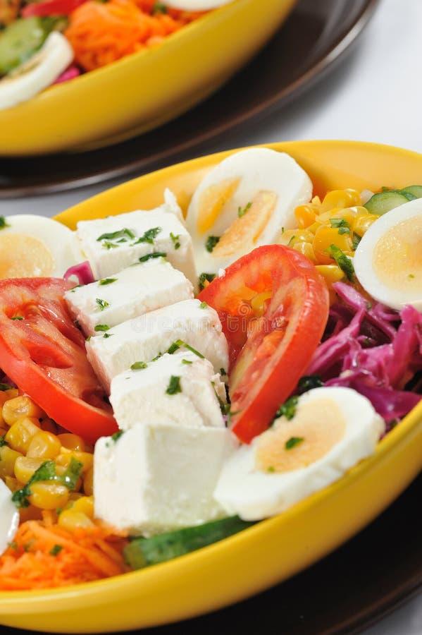 Salada da dieta com muitas proteínas fotos de stock