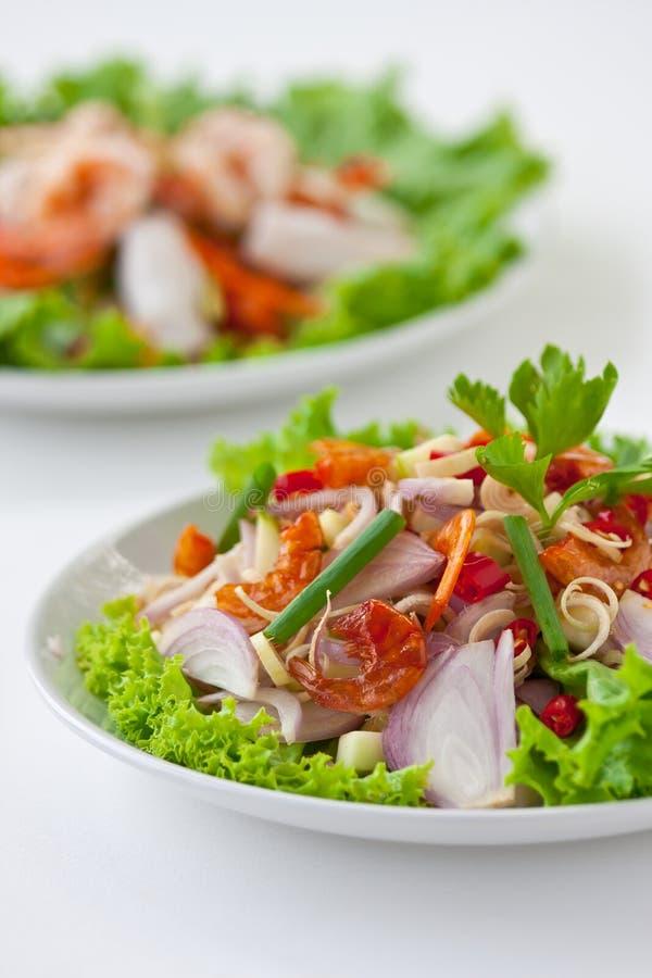 Salada da erva (alimento tailandês) foto de stock