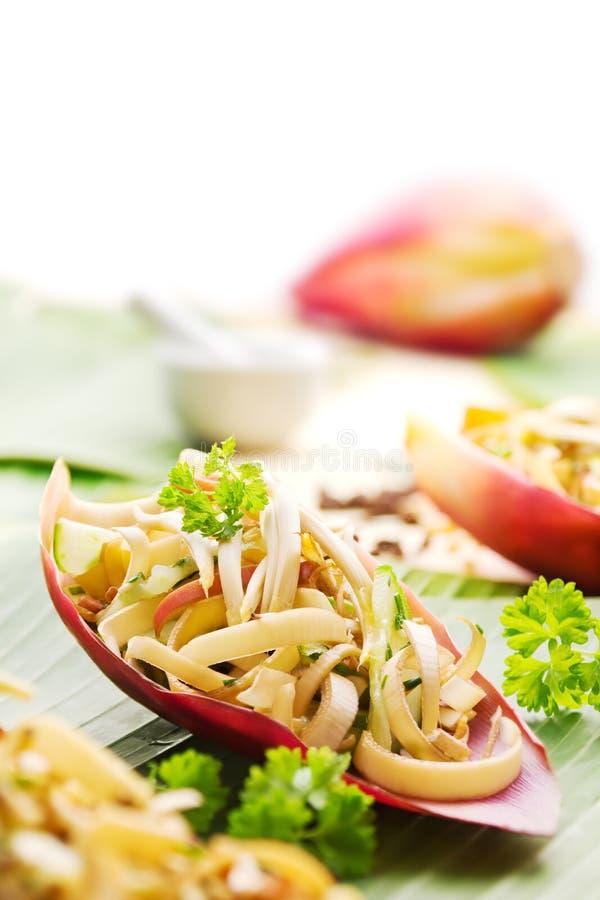 Salada da flor da banana fotos de stock royalty free