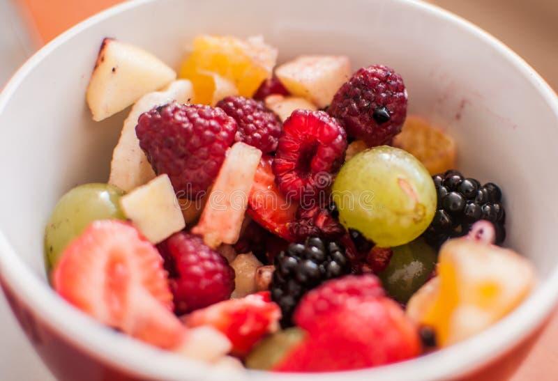 Salada 2 da fruta fotografia de stock royalty free
