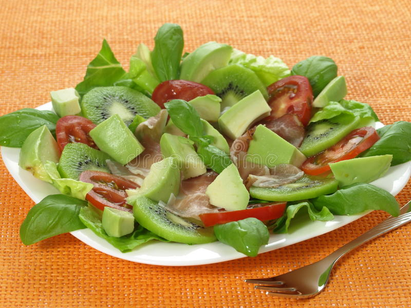 Salada da fruta e do veggie fotos de stock royalty free
