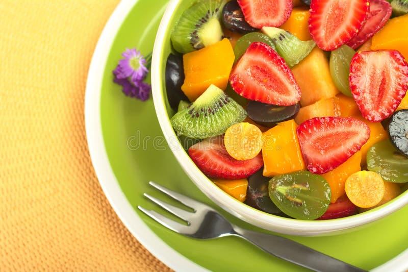 Salada da fruta fresca foto de stock royalty free