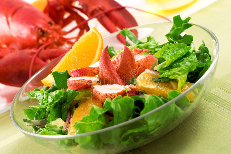 Salada da lagosta foto de stock royalty free