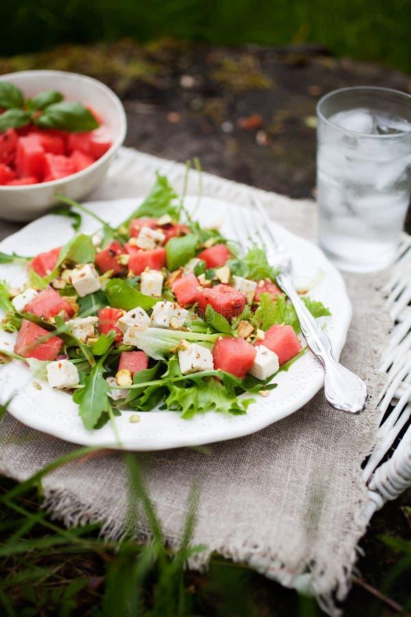 Salada da melancia fotografia de stock royalty free