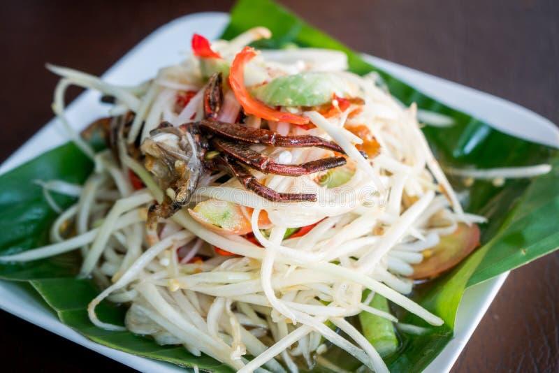 Salada da papaia, Tum do som fotos de stock royalty free
