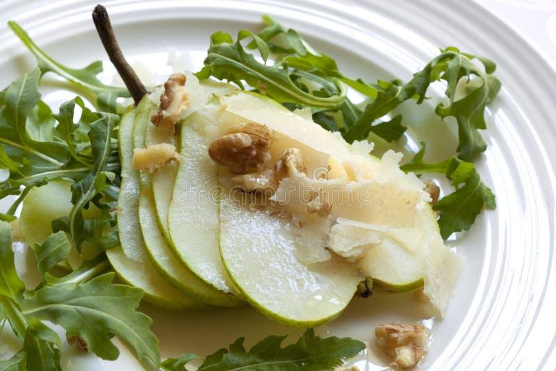 Salada da pera e do Arugula fotografia de stock