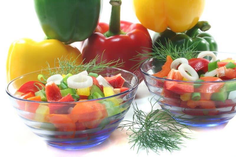 Salada da pimenta de Bell imagem de stock