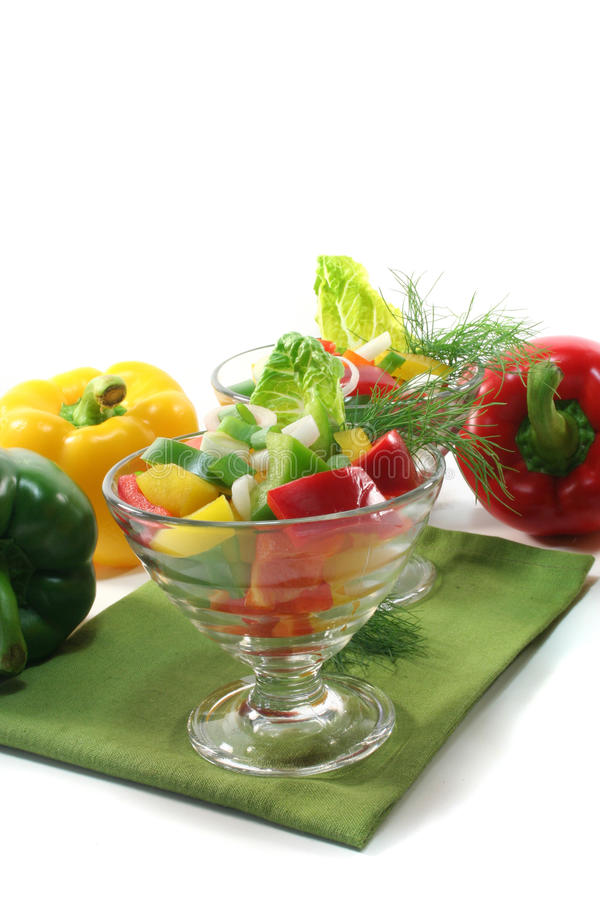 Salada da pimenta de Bell fotografia de stock royalty free