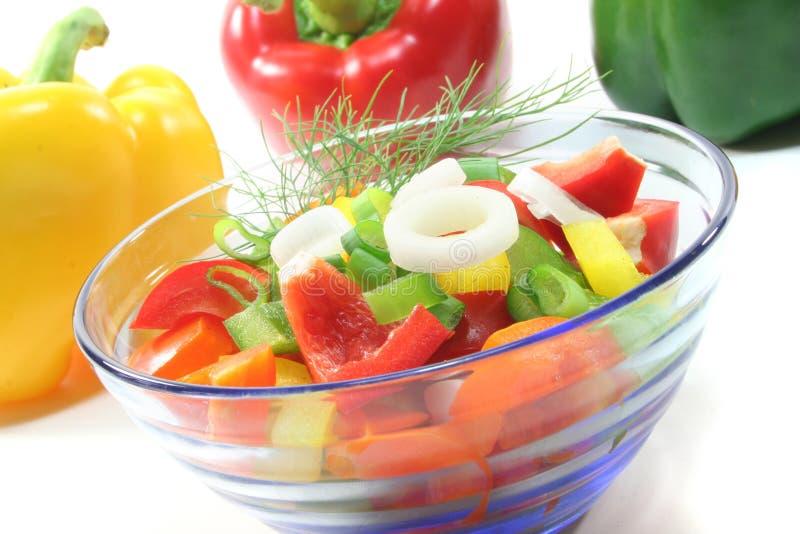 Salada da pimenta de Bell foto de stock