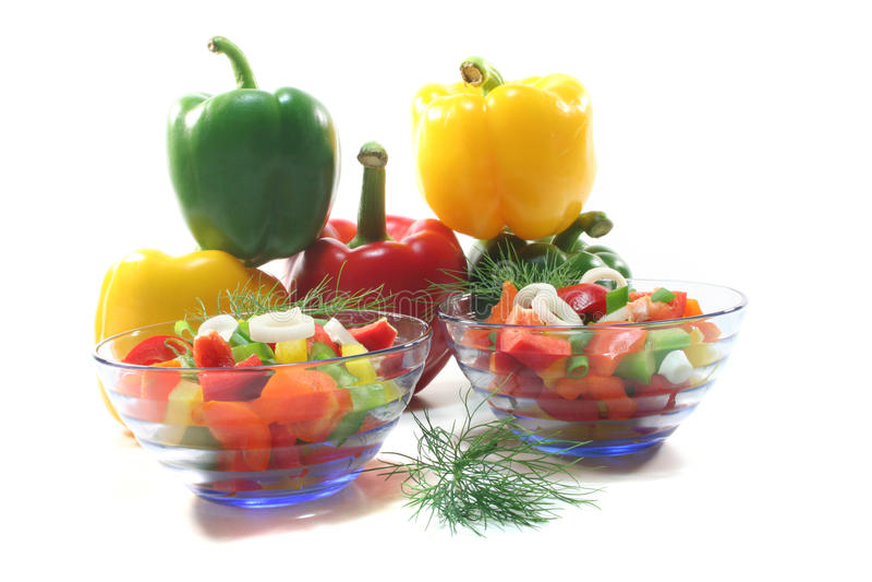 Salada da pimenta de Bell imagens de stock