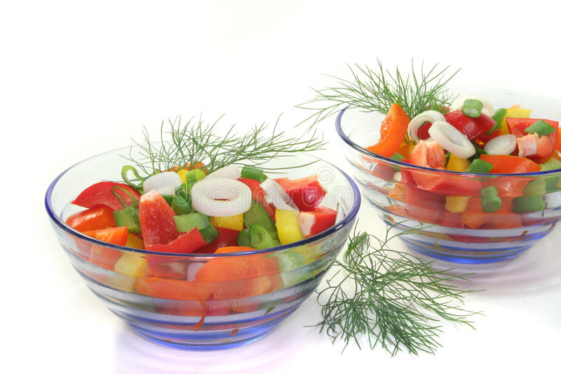 Salada da pimenta de Bell fotos de stock