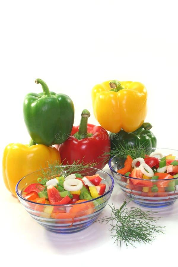 Salada da pimenta de Bell foto de stock royalty free