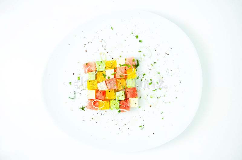 Salada da xadrez foto de stock