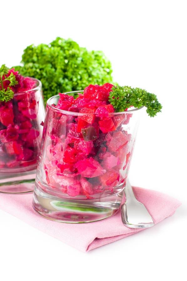 Salada das beterrabas do vegetariano foto de stock royalty free