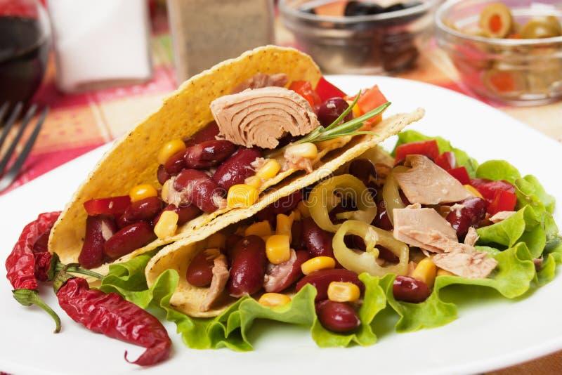 Salada de atum mexicana fotografia de stock royalty free