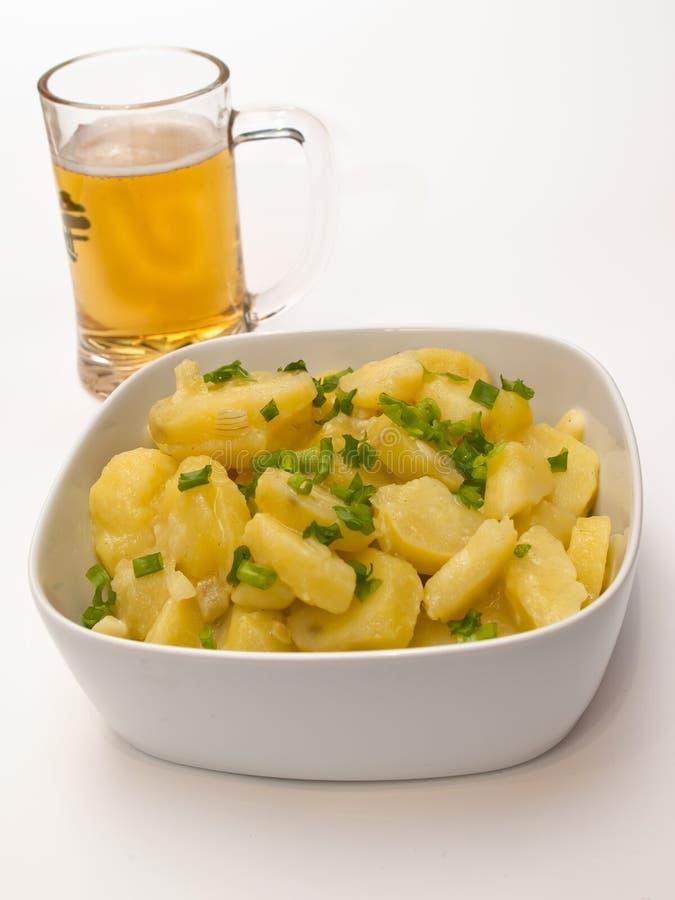 Salada de batata bávara fotos de stock royalty free
