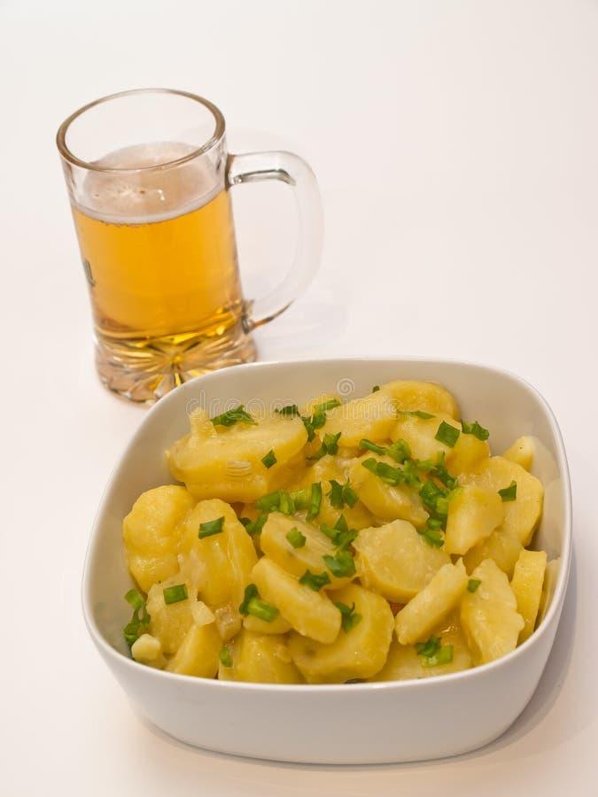 Salada de batata bávara imagem de stock
