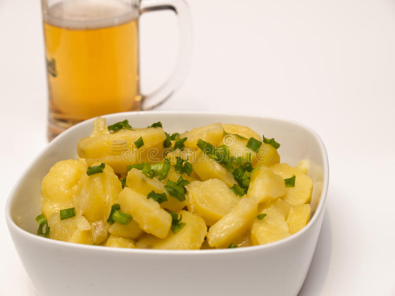 Salada de batata bávara fotografia de stock royalty free