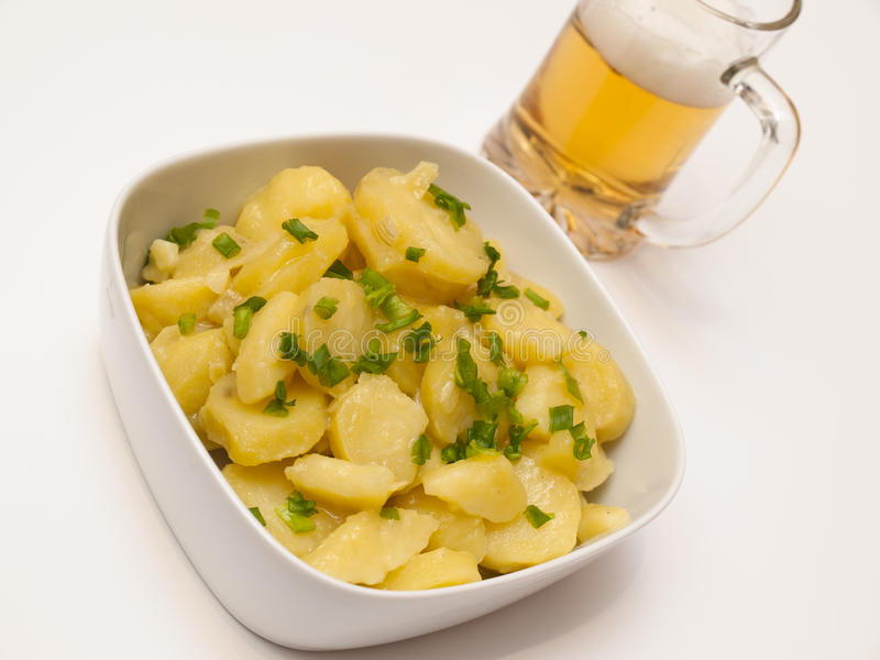 Salada de batata bávara foto de stock royalty free