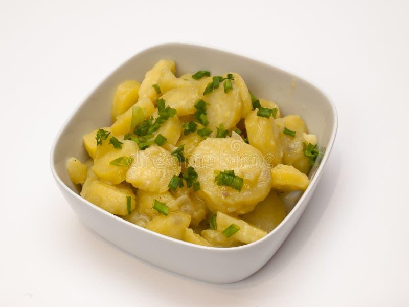 Salada de batata bávara imagem de stock royalty free