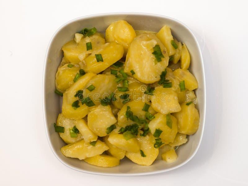 Salada de batata bávara imagens de stock royalty free