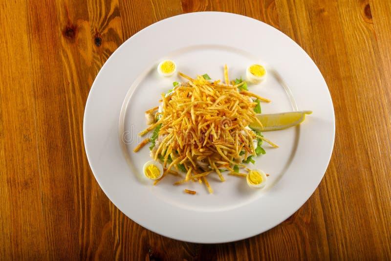 Salada de batata fritada fotos de stock