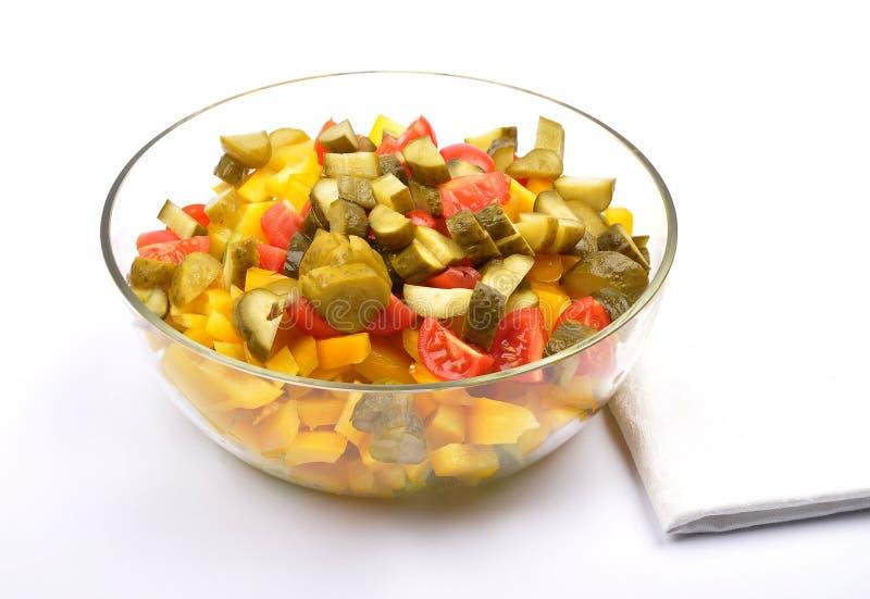 Salada de batata misturada fotografia de stock royalty free