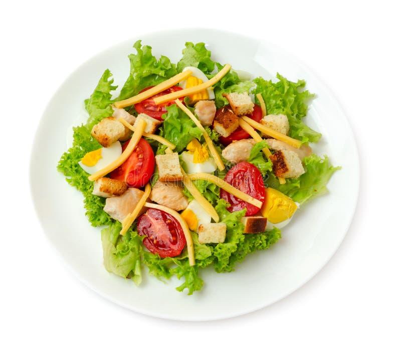 Salada de caesar da galinha isolada imagem de stock royalty free